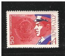 RUSSIA/USSR 1967,50th Anniv.of The Soviet Police-Militia,Sc 3381,VF MNH** - Police - Gendarmerie