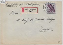 1943 Charge 245/379 - Stempel: Zürich To Thalwil 30.IX.43 - Suisse