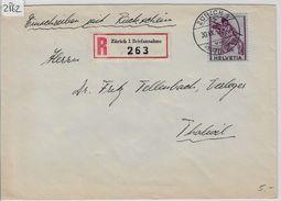 1943 Charge 245/379 - Stempel: Zürich To Thalwil 30.IX.43 - Schweiz