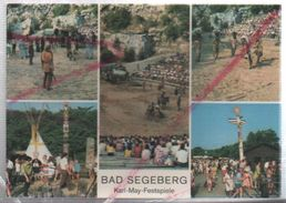 Cpm St003142 Bad Segeberg Karl May Festpiele 5 Vues Sur Carte Western , Indiens - Bad Segeberg