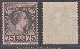 75c Charles III Neuf * TB (Y&T N° 8 , Cote 415€) - Monaco