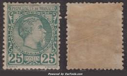 25c Charles III Neuf * TB (Y&T N° 6 , Cote 1010€) - Monaco