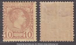 10c Charles III Neuf * TB (Y&T N° 4 , Cote 120€) - Unused Stamps