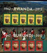 Postkaart Bpost 2012 - Rwanda + Burundi - 2 Kaarten - België