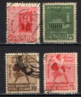 ITALIA RSI - 1944 - MONUMENTI DISTRUTTI - 1^ EMISSIONE - USATI - 4. 1944-45 Repubblica Sociale