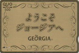 Carte Dorée Japon Boisson COCA COLA  GEORGIA - COKE Japan Prepaid Quo Gold Card - 1039 - Japan
