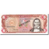 Dominican Republic, 5 Pesos Oro, 1977-1980, SPECIMEN, KM:118s1, 1980, SPL - Dominicaine
