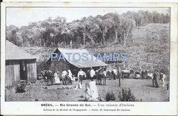 75169 BRAZIL BRASIL RIO GRANDE DO SUL PORTO ALEGRE COSTUMES COLONY ITALY SPOTTED POSTAL POSTCARD - Brasile