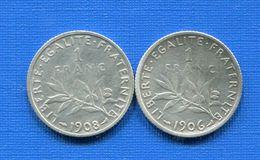 1  Fr  1906 +1908 - H. 1 Franc