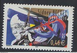 2002 - TIMBRE NEUF - Personnages Célèbres - Grands Interprètes De Jazz - SIDNEY BECHET - N° YT : 3501 - France