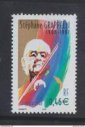 2002 - TIMBRE NEUF - Personnages Célèbres - Grands Interprètes De Jazz - STEPHANE GRAPPELLI - N° YT : 3504 - France