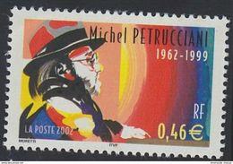 2002 - TIMBRE NEUF - Personnages Célèbres - Grands Interprètes De Jazz - MICHEL PETRUCCIANI - N° YT : 3505 - France