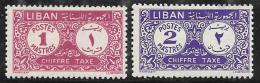 Lebanon, Scott # J50-1 Mint Hinged Postage Due, 1952, Thin - Lebanon