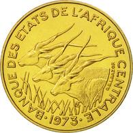 États De L'Afrique Centrale, 5 Francs, 1973, Paris, FDC, Aluminum-Bronze, KM:E1 - Cameroon