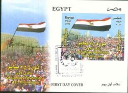 Egypt 2012 25th Of Jan. Reveluation - FDC - Briefe U. Dokumente