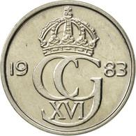 Suède, Carl XVI Gustaf, 25 Öre, 1983, SUP, Copper-nickel, KM:851 - Suède