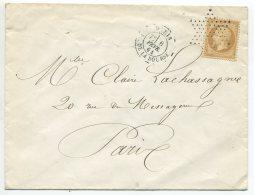 N°21 + étoile Muette + Paris Place De La Bourse /lettre Pour Paris - 1862 Napoleon III