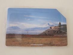 Frist Issued Urmet Phonecard,Mountain Backside Wide Magnetic Stripe,used - Armenia