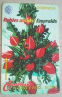 Dominica Phonecard EC$20 Rubies And Emeralds 138CDMB - Dominica