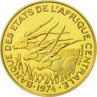 États De L'Afrique Centrale, 10 Francs, 1974, Paris, FDC, Aluminum-Bronze,KME3 - Cameroun