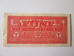 Germany 5 Reichspfennig Deutsche Wehrmacht 1942 AUNC Banknote - [ 4] 1933-1945 : Third Reich
