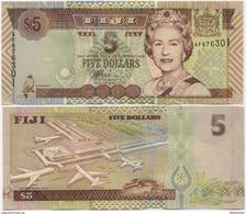 FIJI        5 Dollars        P-105b      ND (2002)        UNC - Figi