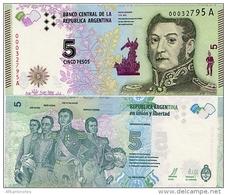 ARGENTINA     5 Pesos    P-359     ND (2015)    UNC  [ Sign.Vanoli - Boudou ] - Argentine