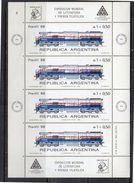 Trains 1988 Scarce Miniature Sheets MNH (a7) - Blokken & Velletjes