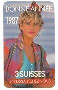 CALENDRIER DE POCHE LES 3 SUISSES 1987 - Tamaño Pequeño : 1981-90