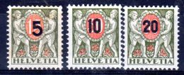 1937;  Timbres Taxe; YT 63 - 65, Neuf * - Charnière, Lot 48702 - Dienstpost