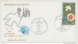 Enveloppe  FDC  1er  Jour    REPUBLIQUE   De   DJIBOUTI   Centenaire  Du  Congrés  De  L' U.P.U    1978 - Djibouti (1977-...)