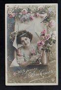 Fête Et Voeux / Nouvel An / Bonne (et) Ou Heureuse Année Ou Meilleurs Voeux / Femme,jeune Fille,fleurs - Nouvel An