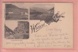 OUDE POSTKAART ZWITSERLAND  - SCHWEIZ -    VOORLOPER - WIESEN 1898 - HOTEL BELLEVUE - GR Grisons