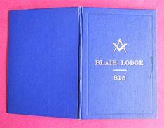 Livret Blair Lodge N° 815 By-Laws Held Denmark Hotel Manchester Loge 1946 16 Pages Franc-maçonnerie Freemason 11.3x8cm - Esotérisme