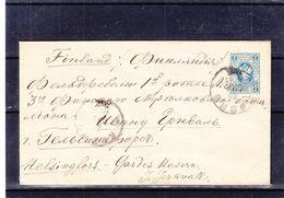 Russie - Lettre De 1890 - Entier Postal - Format 145 X 91 - Exp Vers Helsinki - 1857-1916 Imperium