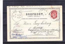 Russie - Carte Postale De 1902 - Oblit Riga - Exp Vers Eisenberg - Réexpédié Vers Leipzig - Cosyume De La Lapponie - Storia Postale