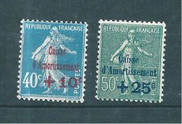 France Caisse D'amortissement Timbres De 1927 N°246/47  Neufs * Tres Petite Charnière - Caisse D'Amortissement