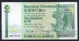 483-Hong Kong Billet De 10 Dollars 1987 AN918 - Hong Kong