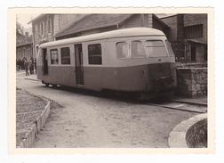 PHOTO CFD Train Wagon Autorail Billard N°33 Au Cheylard ? En 1966 - Trains