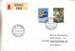 Nations Unies - Genève - Lettre Recom De 1983 - Oblit Genève - Commerce Et Développement - Office De Genève