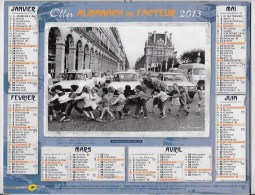 Calendrier De La Poste 2013 Département Du Rhone - Calendarios