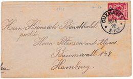 Lettre Cuxhaven Hamburg Allemagne Deutschland 1892 Hambourg - Lettres & Documents