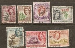 Souther Rhodesia 1953 Seven Values To 2/6d Fine Used - Southern Rhodesia (...-1964)