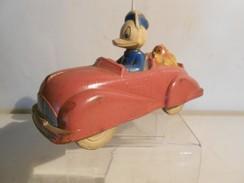 DONALD DUCK AVEC PLUTO EN CABRIOLET / AUBURN RUBER ?? / LONG 16 CM / REF 12018 - Disney