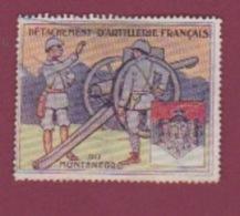 VIGNETTE - 130717 - GUERRE 14 18 MILITARIA - CORPS EXPEDITIONNAIRE MISSION - DETACHEMENT ARTILLERIE FRANCAIS MONTENEGRO - Vignetten (Erinnophilie)