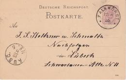 EP Michel P 12/02 A  Obl KALKHORST Du 12.8.85 Adressé à Lübeck - Entiers Postaux
