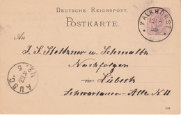 EP Michel P 12/02 A  Obl KALKHORST Du 12.8.85 Adressé à Lübeck - Deutschland