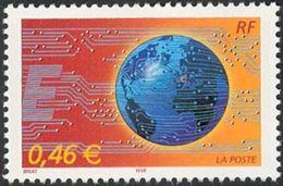 Timbre France 2002 N°  FR 3532 Le Monde En Réseau - France