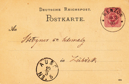 EP Michel P 12/02 A  Obl RENZOW Du 10.3.85 Adressé à Lübeck - Deutschland