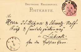 EP Michel P 12/02 A  Obl BRUEL In MECKL Du 2.4.85 Adressé à Lübeck - Entiers Postaux